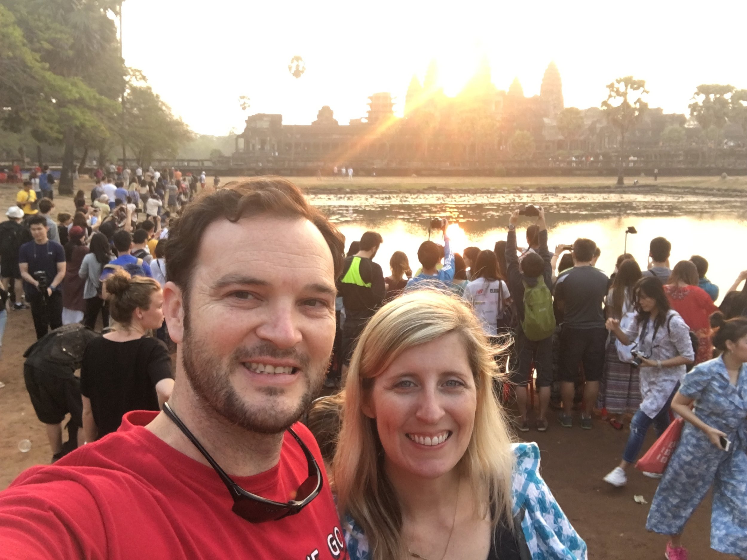 Watching the sunrise at Angor Wat. The mission trip was incredible. It was exhausting in every way imaginable. We couldn't take photos of the kids we worked with for privacy reasons, but this photo was from the end of the trip as our team recouped from the week in Phonem Penh.
