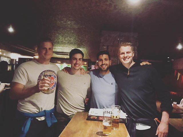 Best couple of days with the #canadian lads! Such a good time! Looking forward to going out to Ontario for a pint or two!!