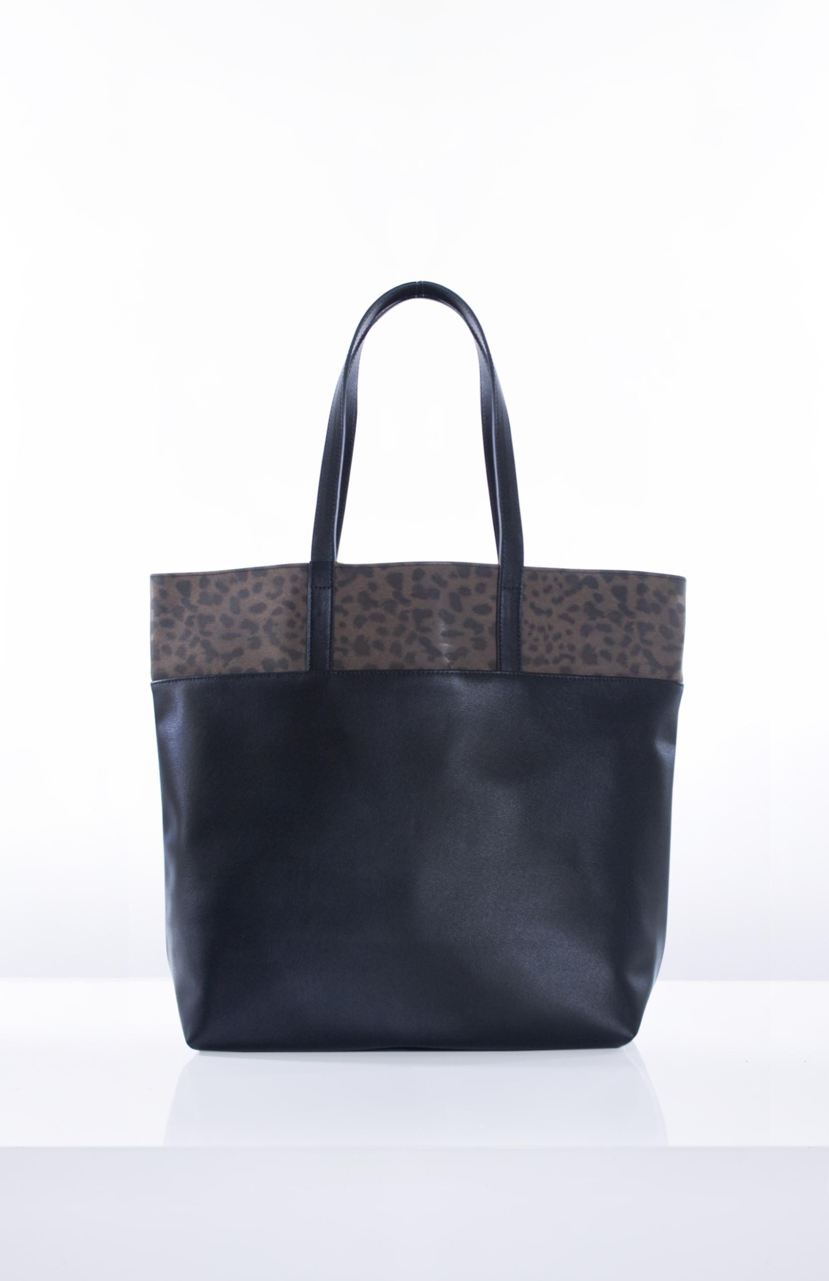 LILITH- BrownLeopard + Black PU