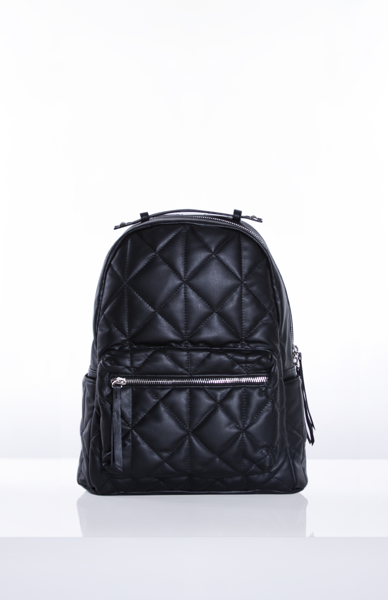 HOLLY- Black Quilted PU