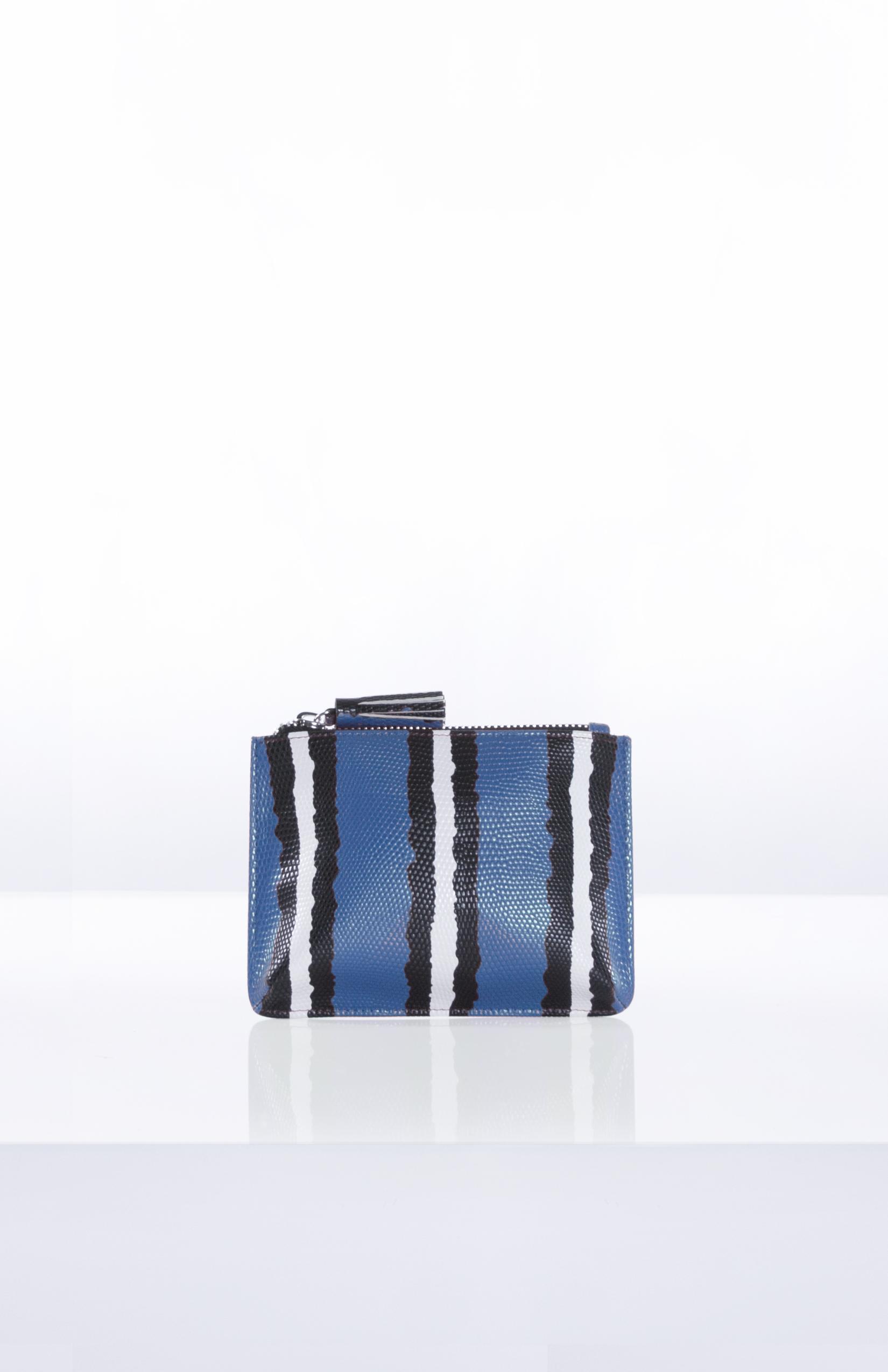 ADELE SNAKE POUCH- Blue