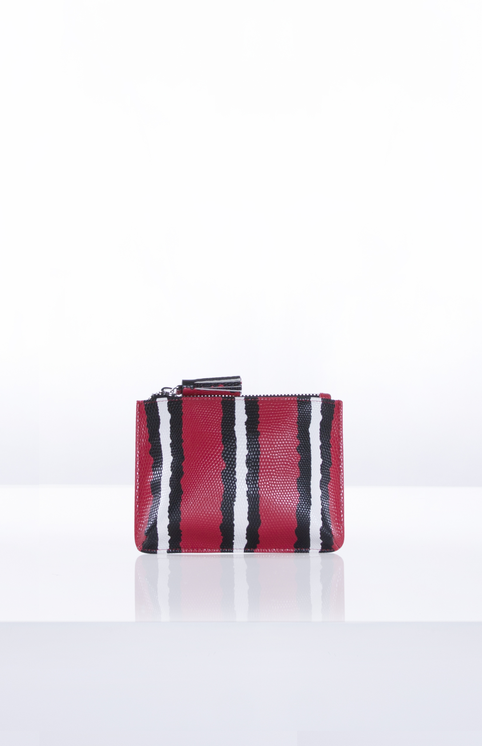 ADELE SNAKE POUCH- Red