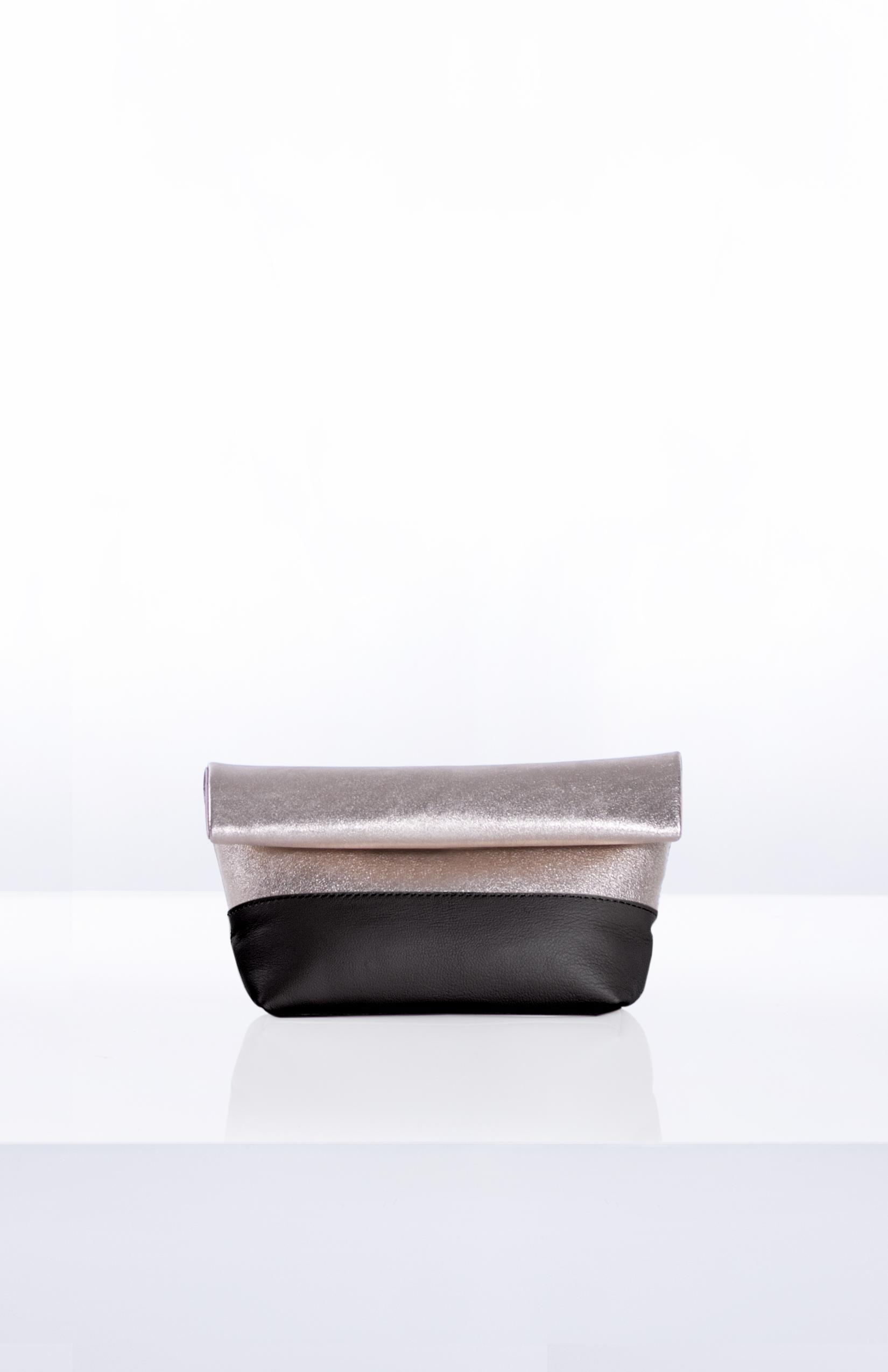 LUNA ROLLDOWN CLUTCH- Gold + Black