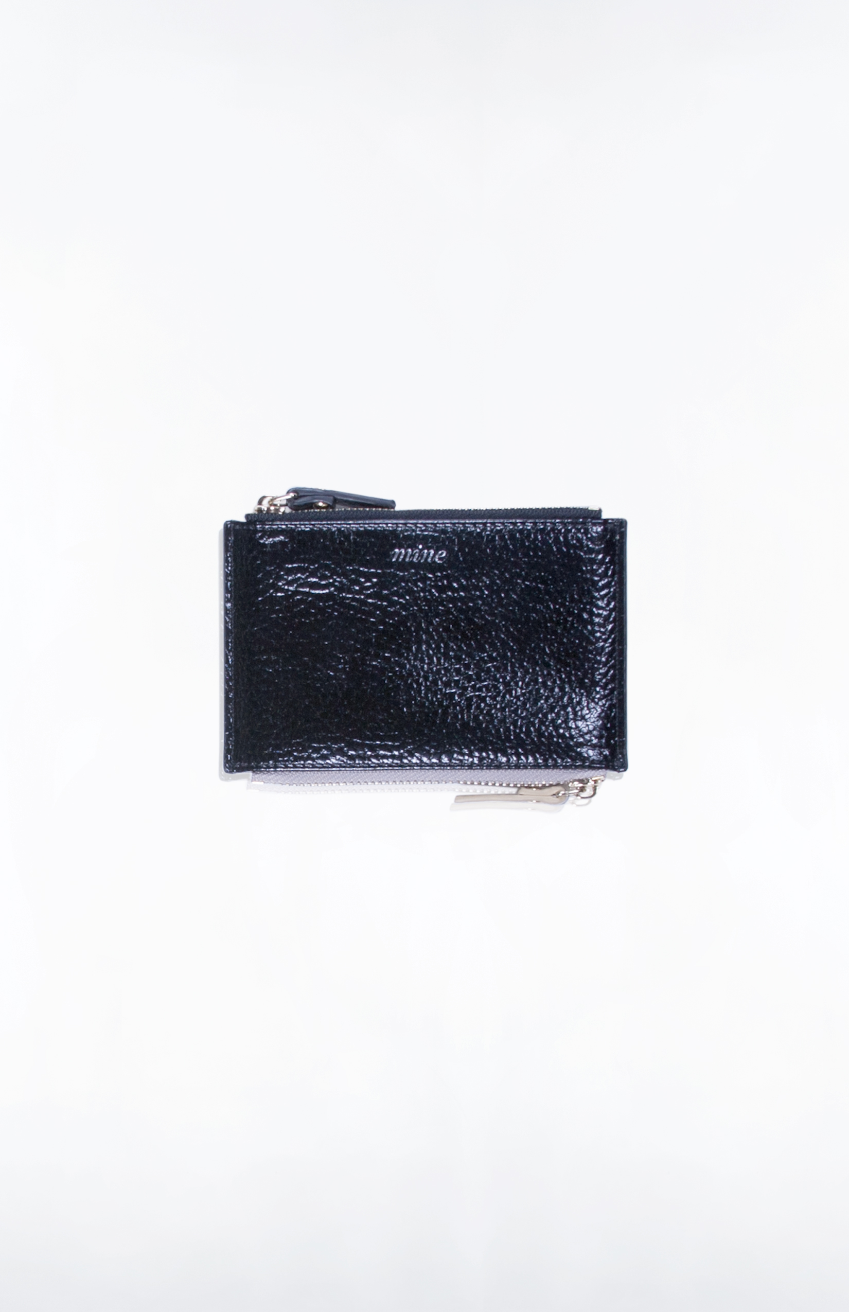 DUALITY CARD CASE (Mine/Yours)- Gunmetal + Black PU
