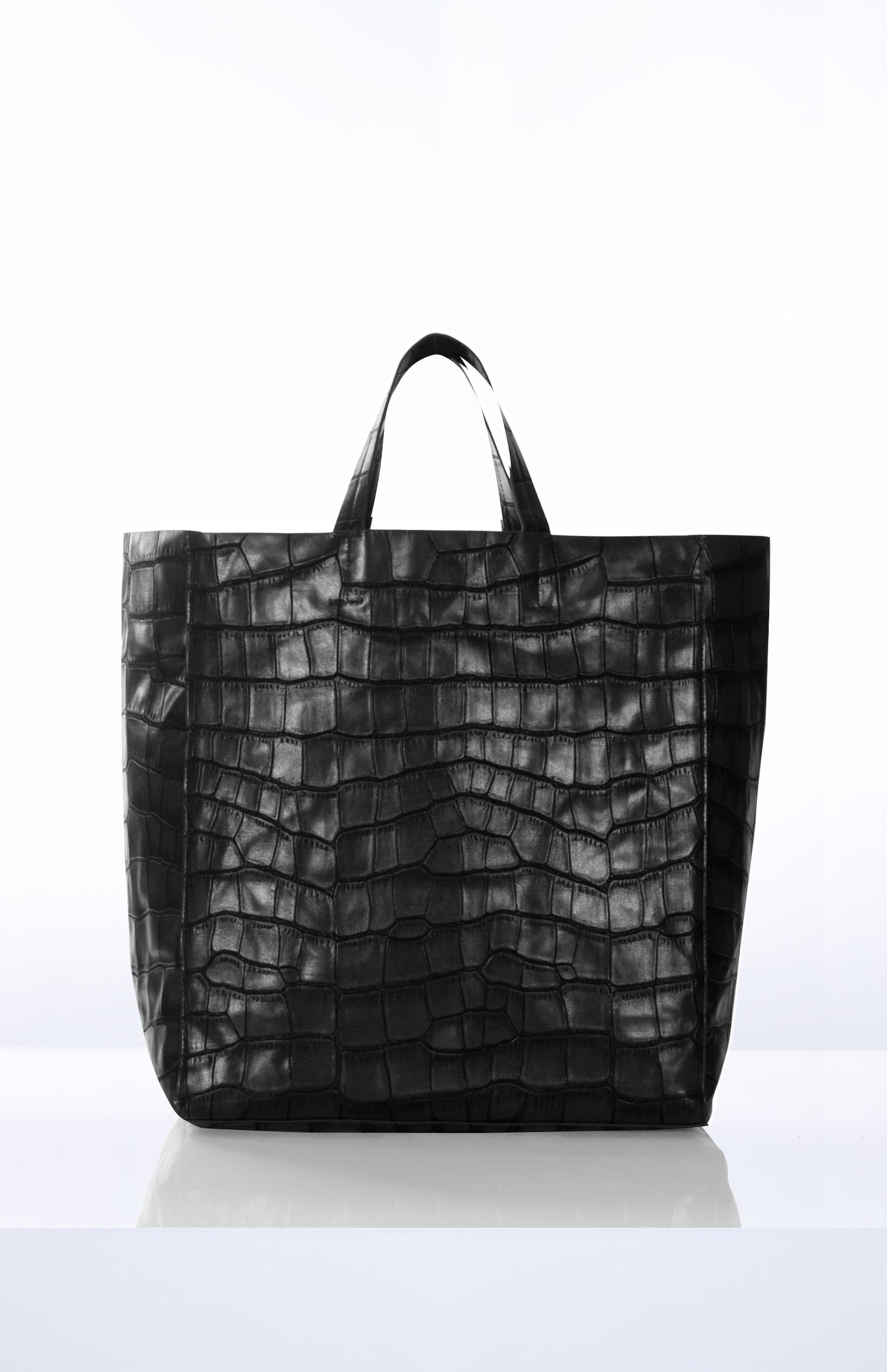 ROONEY- Black Large Format Croc