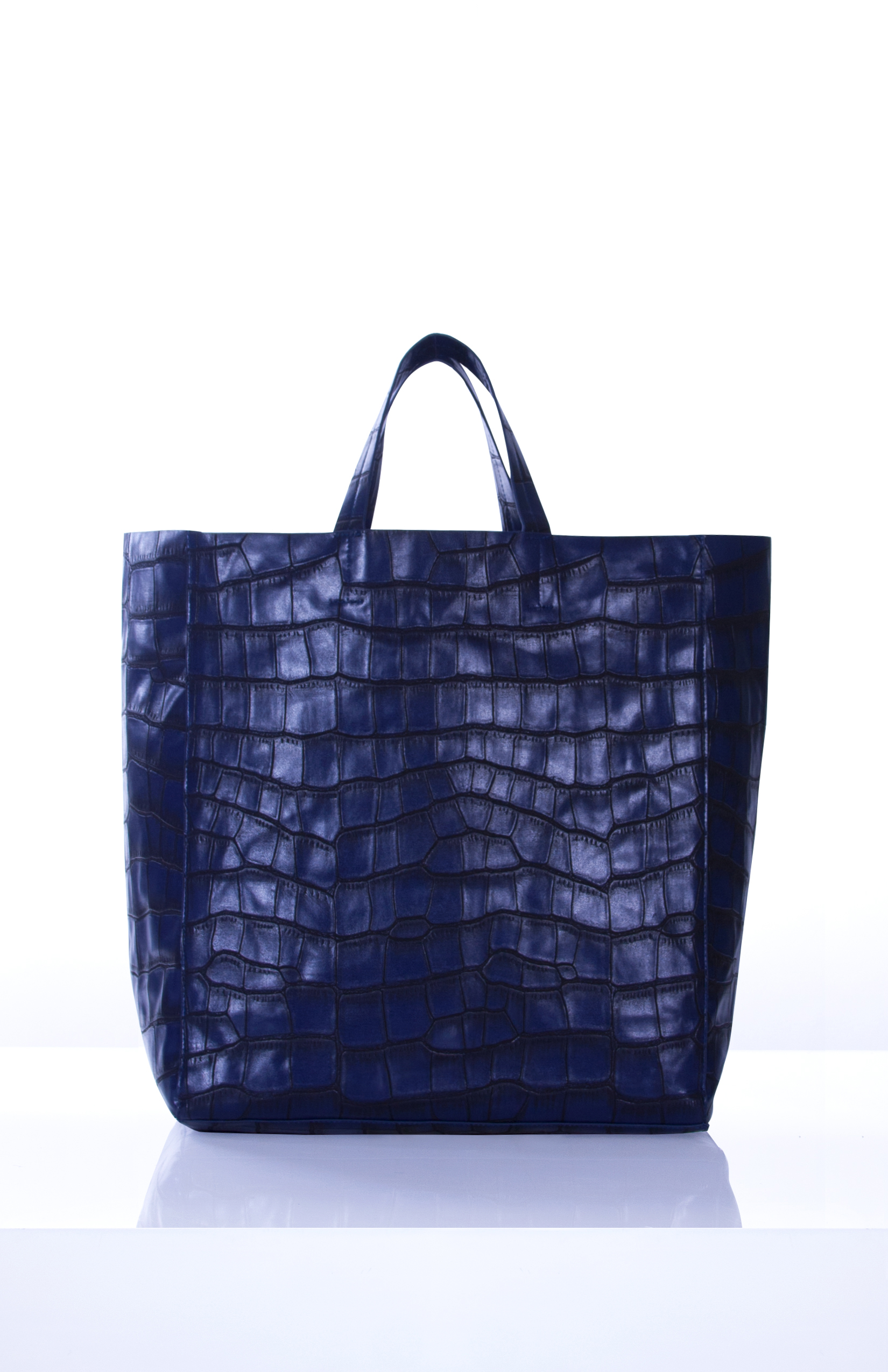 ROONEY- Navy Large Format Croc