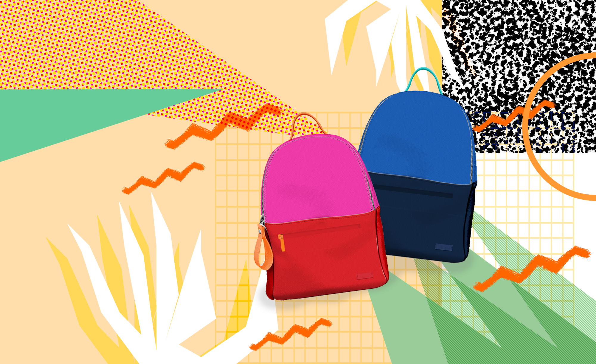Nelly color block backpack