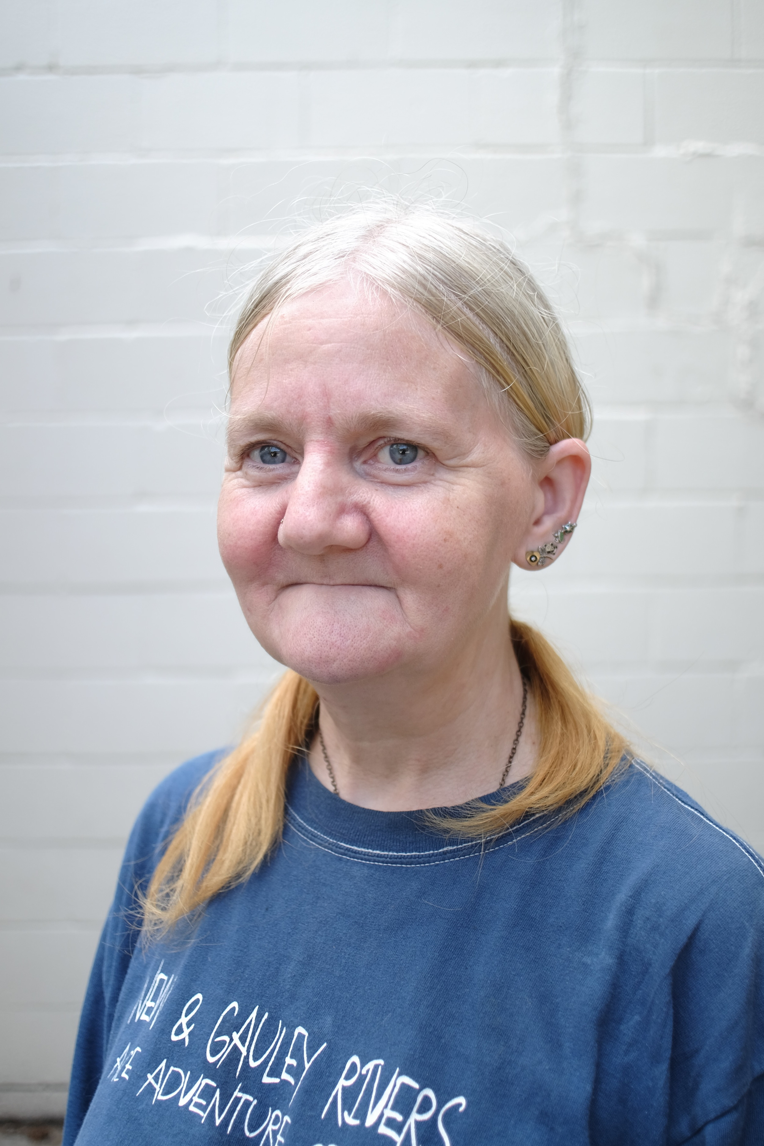 """Sally James has lived in Muskegon for  25 years and has volunteered at Sacred Suds for 12. """"I  came to do my laundry and eventually I volunteered, because I wanted to give the community back what they gave to me.""""  What's kept sally there for 12 years?  """"Friends. I like the people here."""""""
