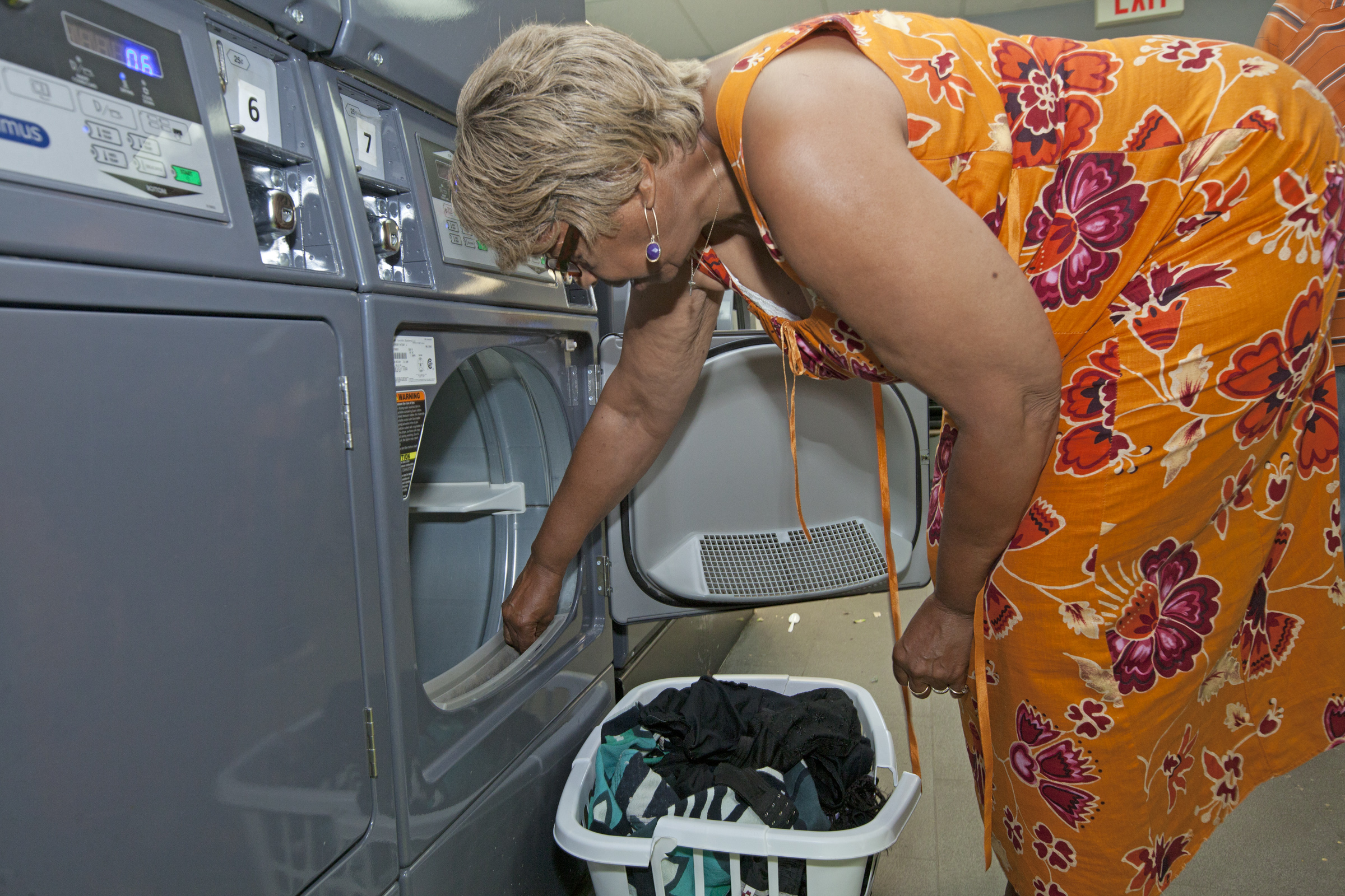 Affordable laundry and shower facilities are available to low income neighbors.