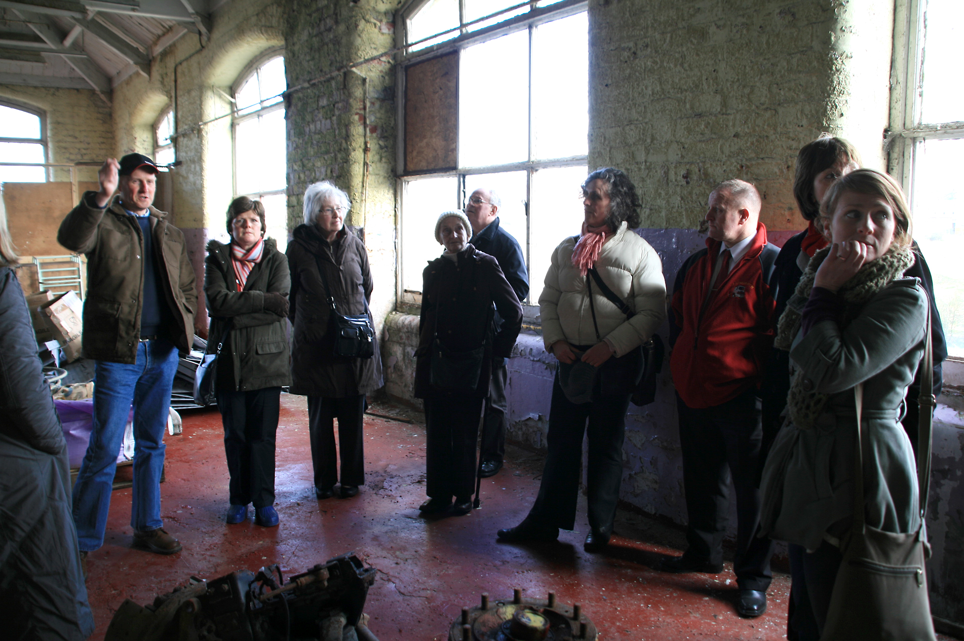 Residents undertaking a Placecheck of a historic mill complex.