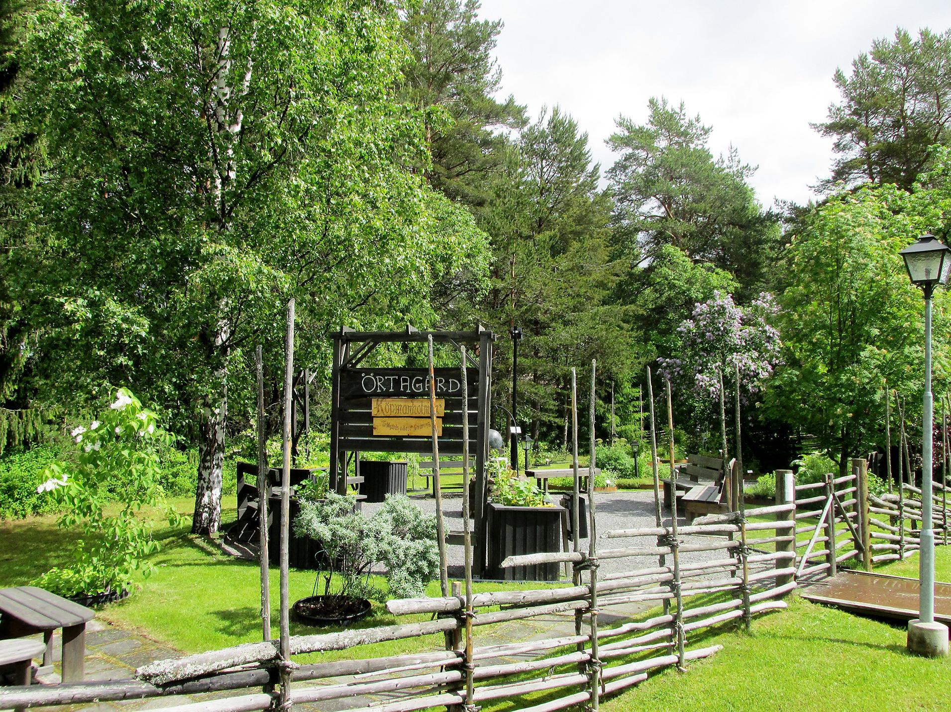 Ingeborg Hedberg lät starta ett av Sveriges första dagis, Solgården. När den kommunala daghemsverksamheten byggdes ut övertog kommunen verksamheten och när den flyttades övertog samhällsföreningen Solgården och den blev en örtagård. Örtagården ligger numera vid brukskyrkan och tillhör trädgårdsodlarföreningen.  Foto: Roland Näslund