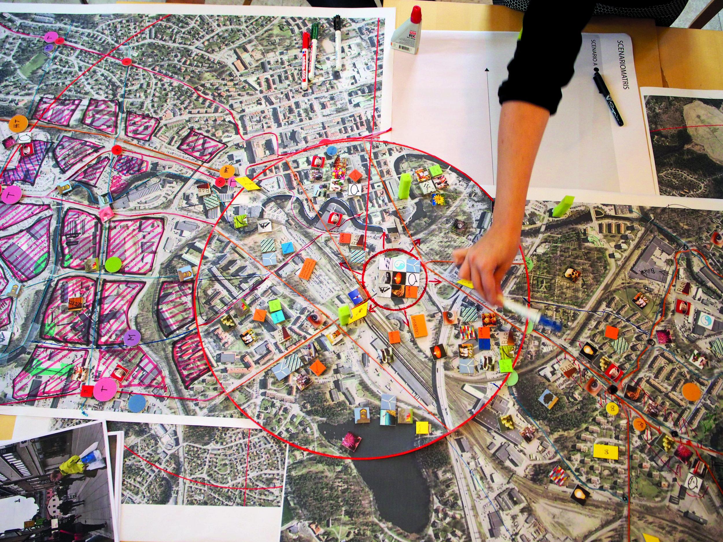 Verktyg 5, Designdialog för att utveckla stråk med upplevd stationsnärhet i Borås.