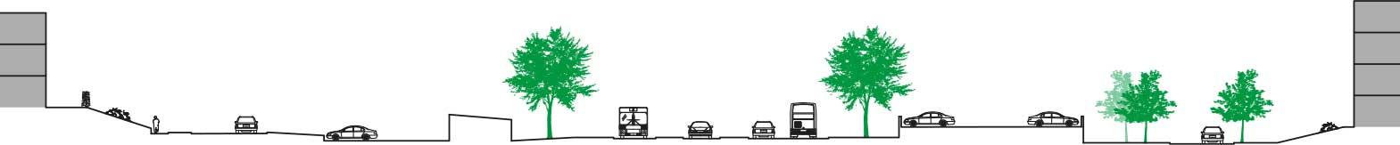 Före planerad bebyggelse av Litteraturgatan