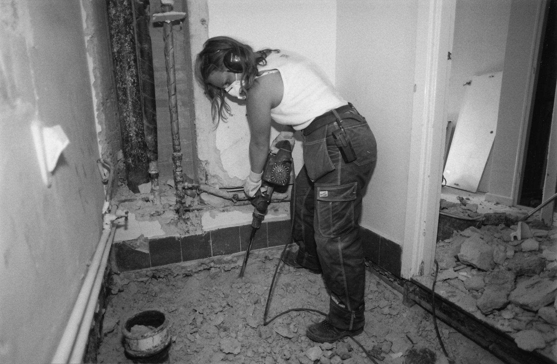 Renovering av badrum. Foto: Björn Edström