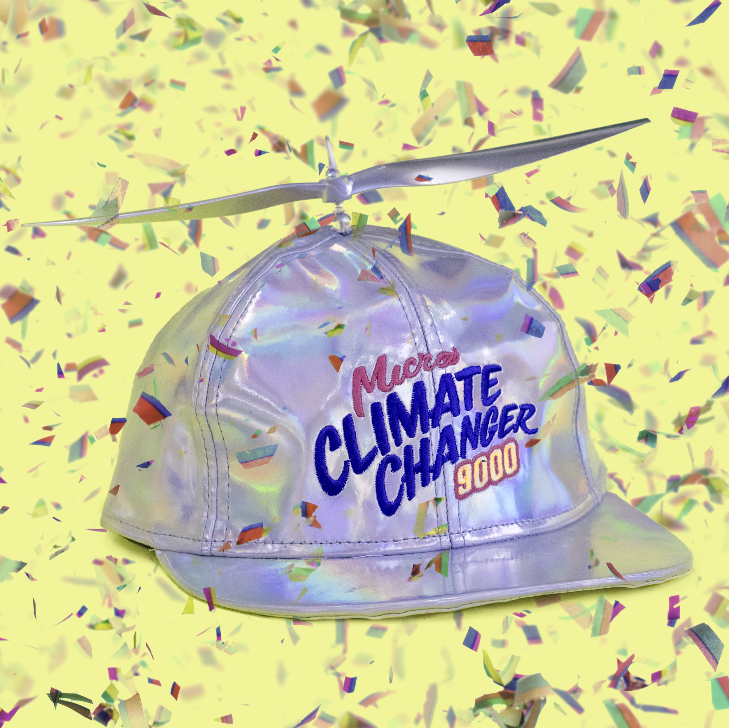 In the age of alternative facts, (upsidedown happyface) introduces the worlds first wind-powered AR (alternative reality) device, the Micro Climate Changer 9000. Some consider that there is plausible deniability for the existence of climate change, but we assure you that micro-climate change is here for real. Guaranteed to lift your mood bigly and the city smog at the same time, the MCC9000 makes a perfect gift for those disillusioned with our current state of existence.