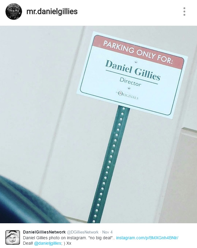 No big deal. Posted on Instagram by Daniel Gillies