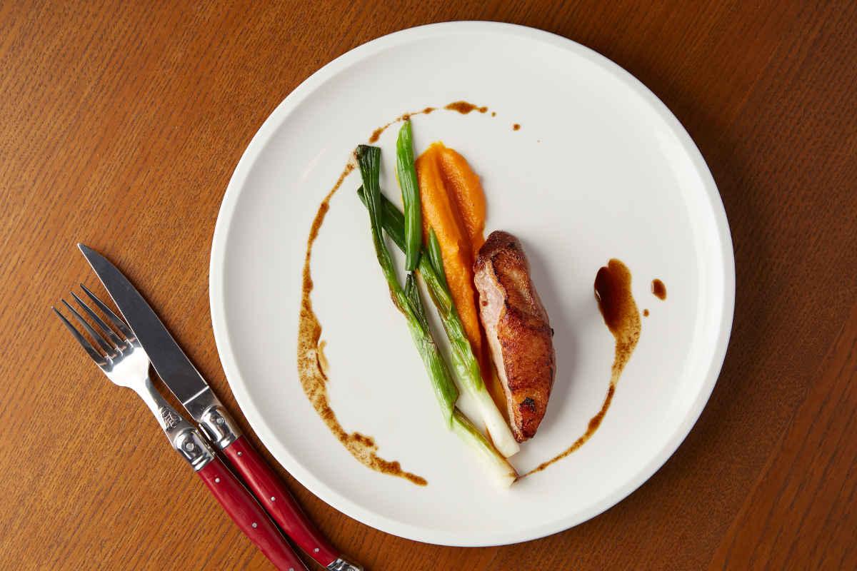 LI Braised Chicken Breast | Pumpkin Puree | Summer Baby Leaks | Pan Sauce
