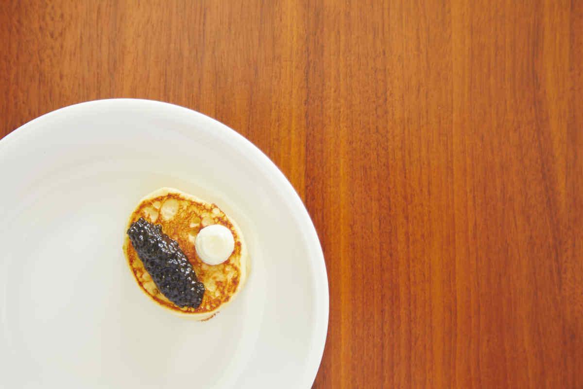Black Sturgeon Caviar | Blini | Creme Fraiche Canape