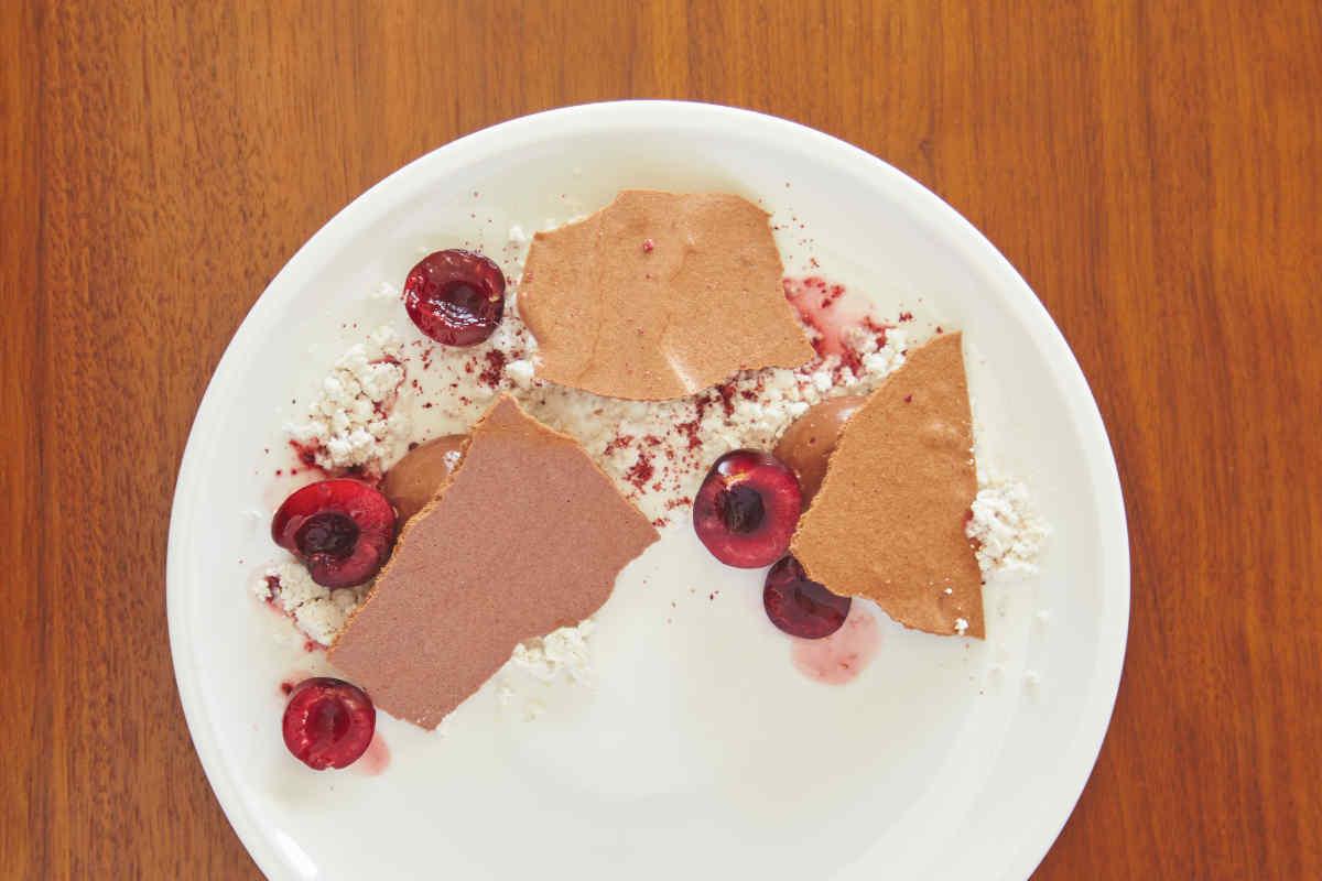 Dark & Cherry Chocolate Textures Dessert