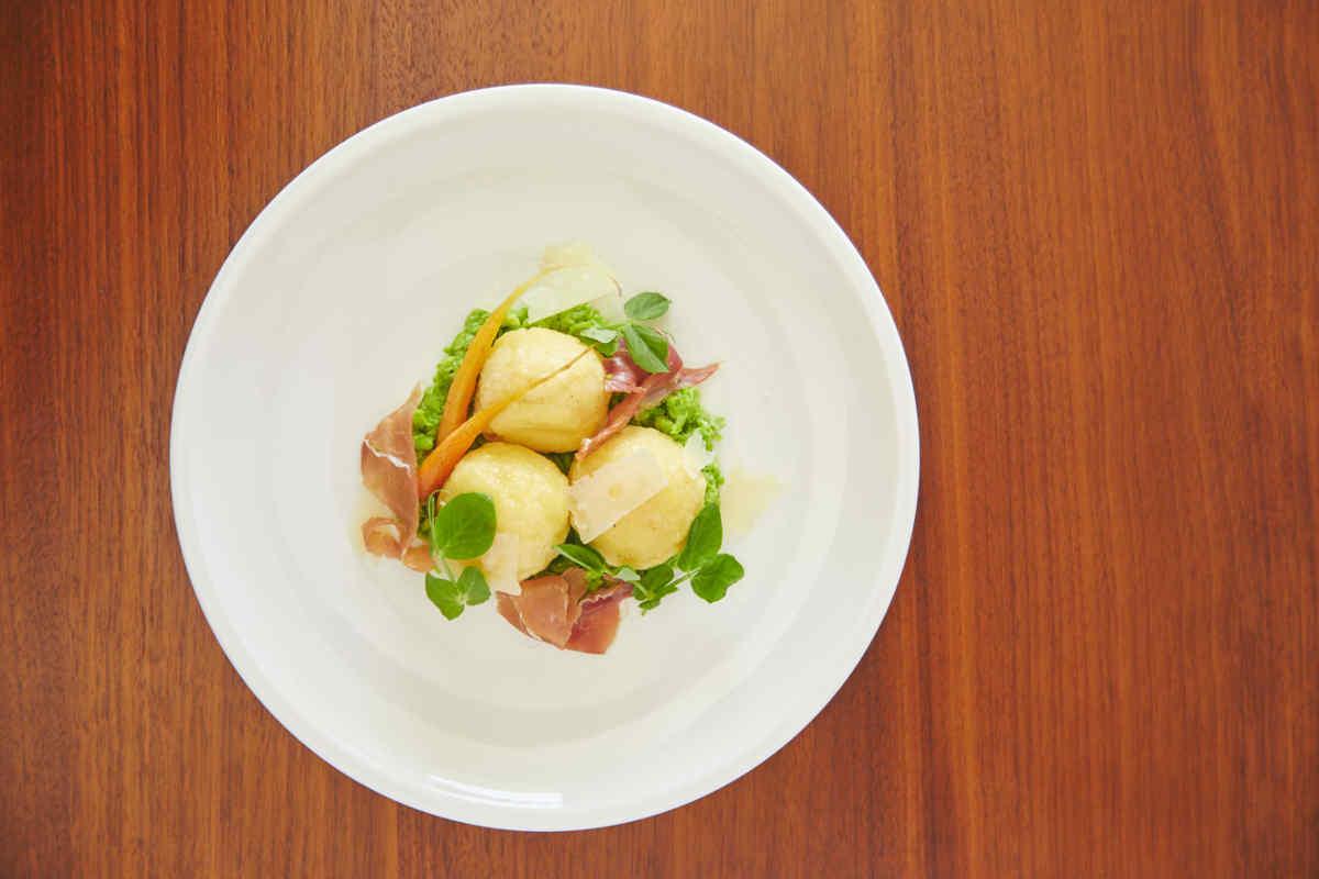Potato  Gnocchi | Summer Market Vegetables | Parmesan Emulsion Sauce