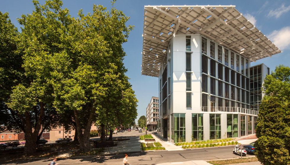 Bullitt Center, Seattle, WA is a class-A office building with a Net Positive Water system.
