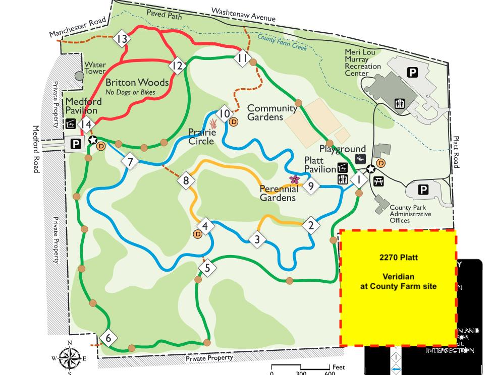 County Farm Park trail map w Platt Site.png