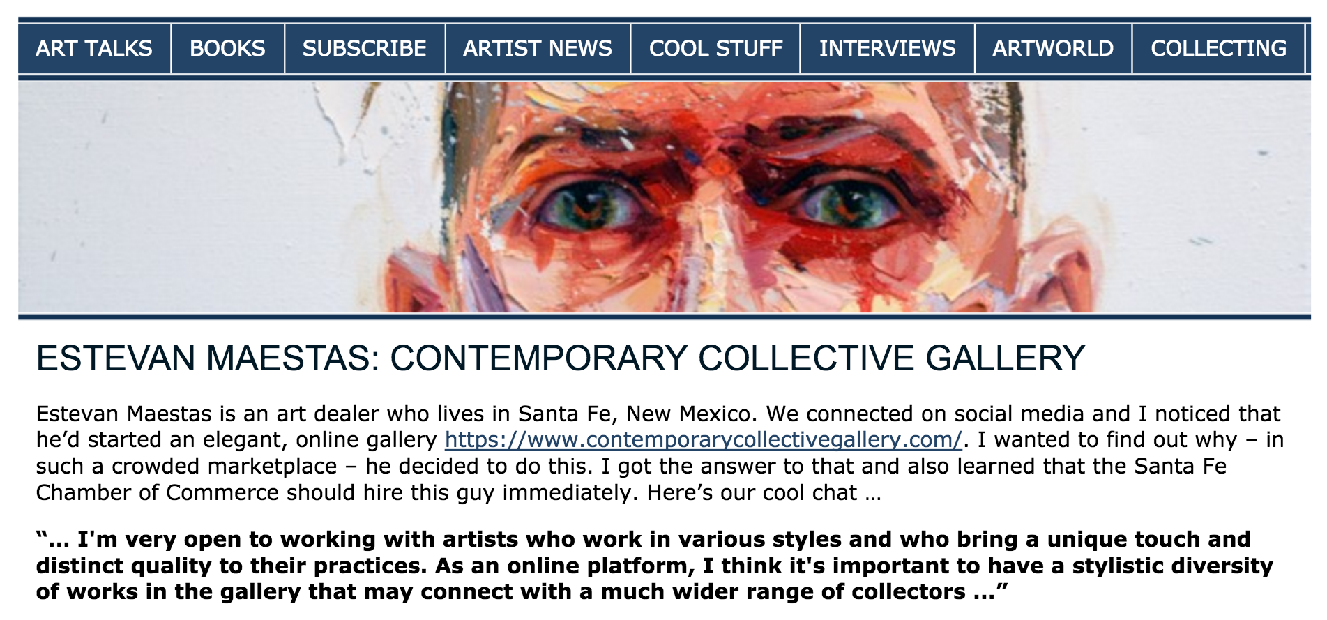 ArtBookGuy - Interview with Estevan Maestas, founder of Contemporary Collective Gallery