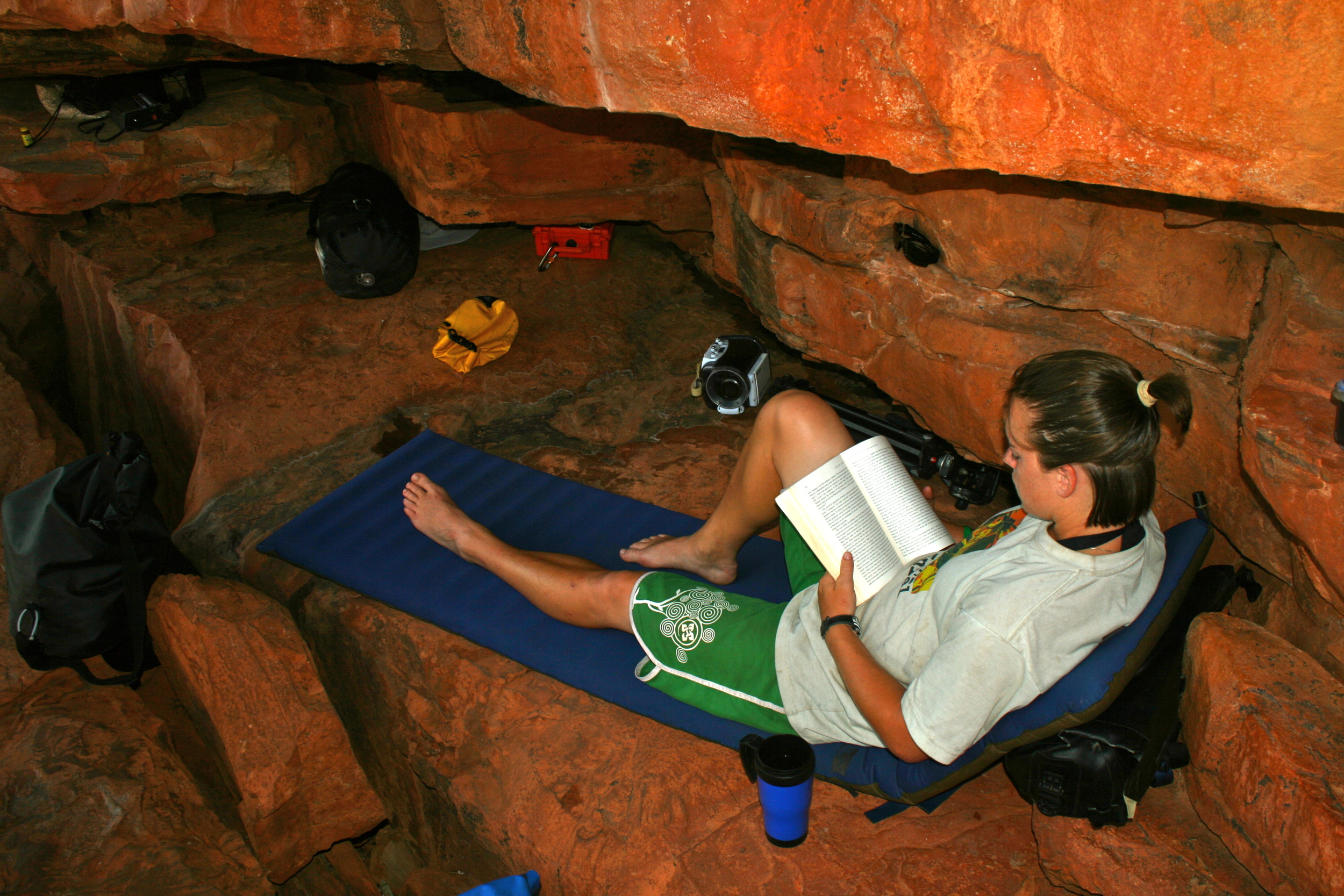 GETTING SOME READING IN ON THE FITZROY RIVER, KIMBERLY REGION, NORTHWEST AUSTRALIA