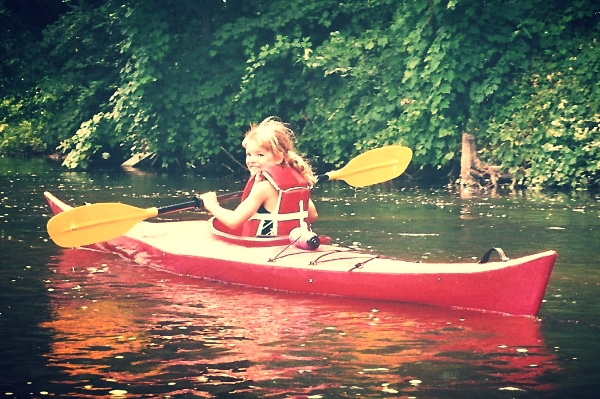 Adriene's first kayak. 1996
