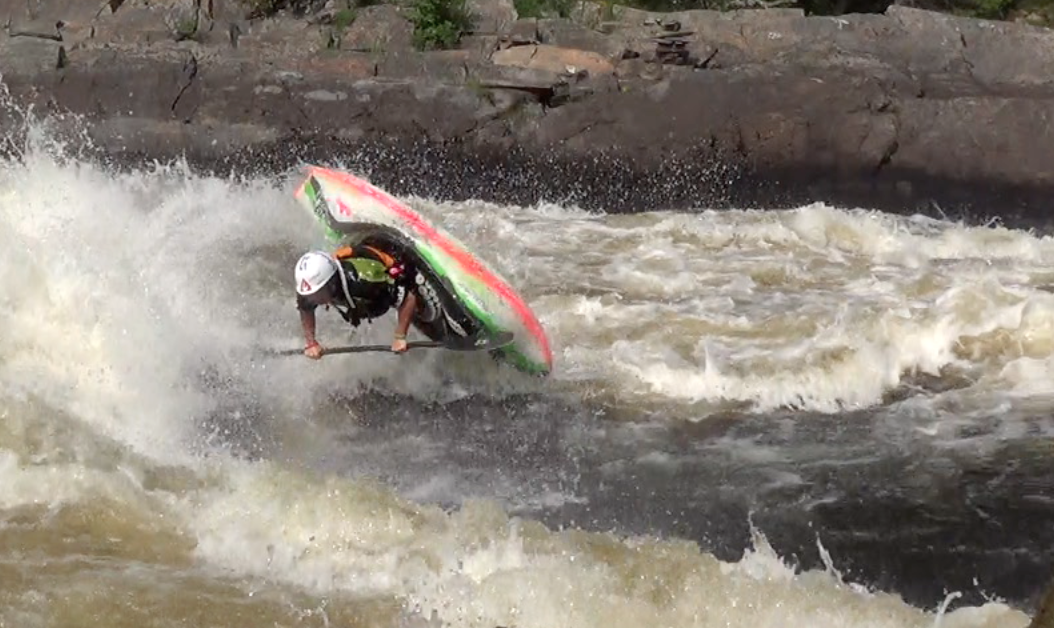 Summer sessions on Garbourator Wave on the Ottawa River, Ontario Canada. This is where the 2015 Freestyle World Championships will be held.