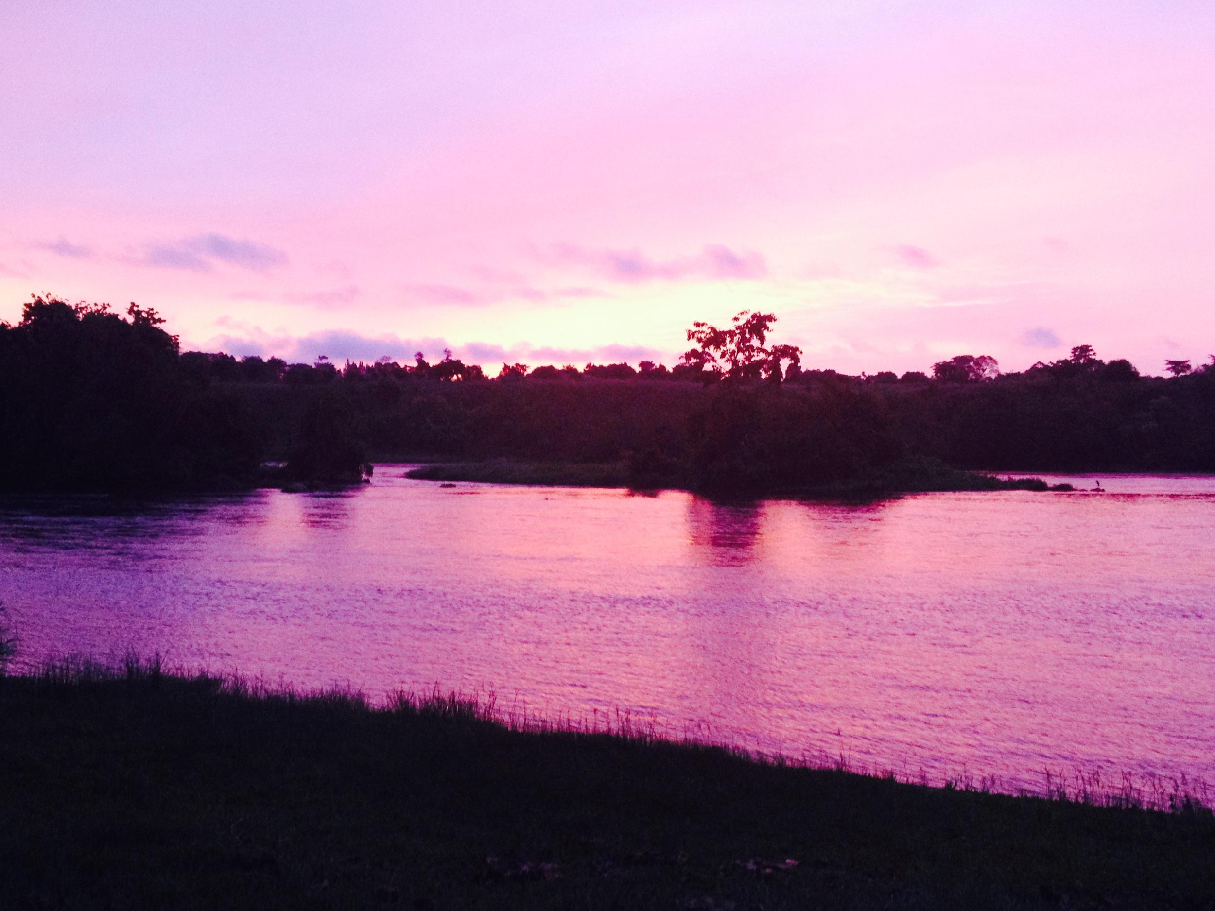 A perfect sunrise on the Nile.