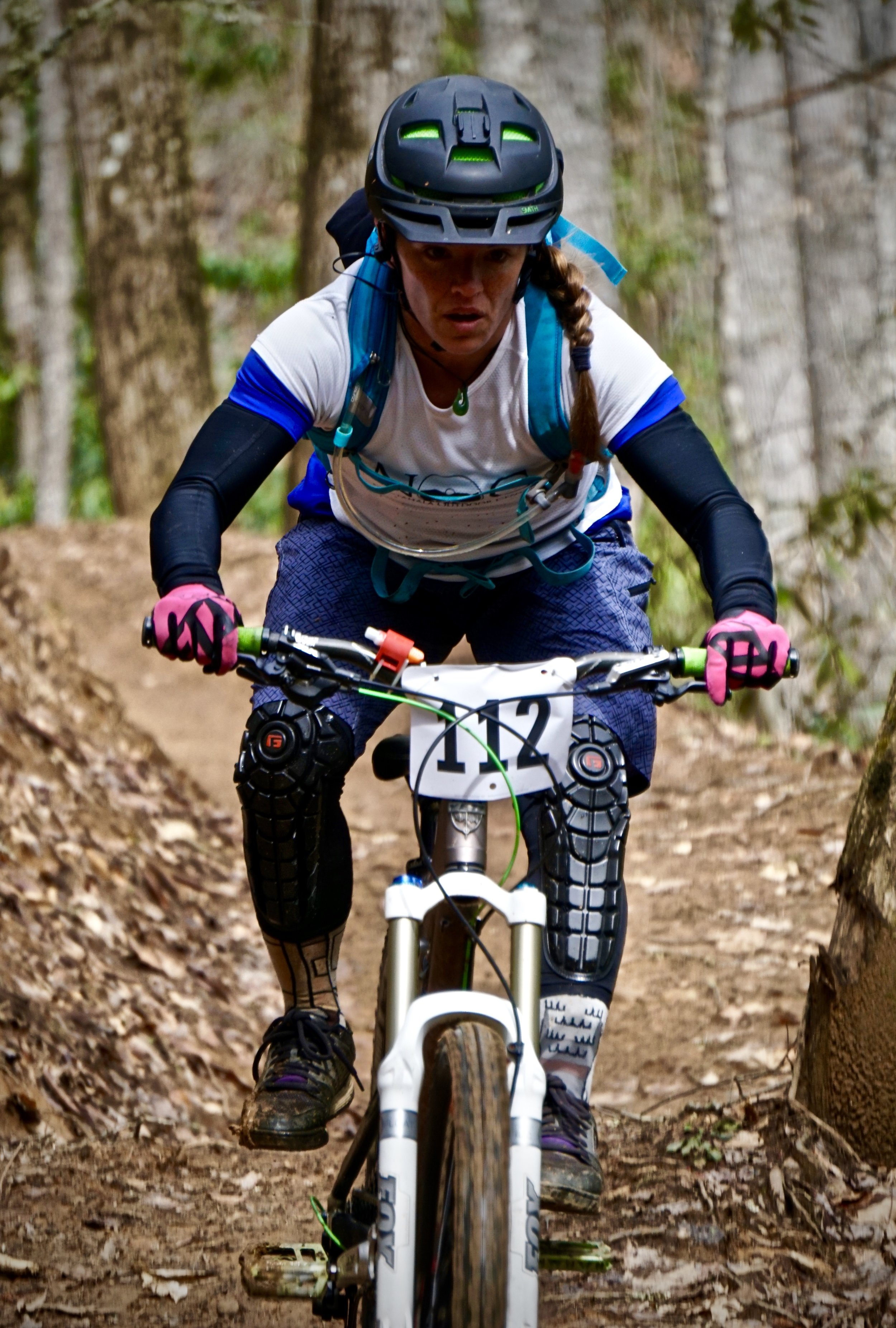 Adriene competing in her first mountain bike race. Photo by: Mark Robertson