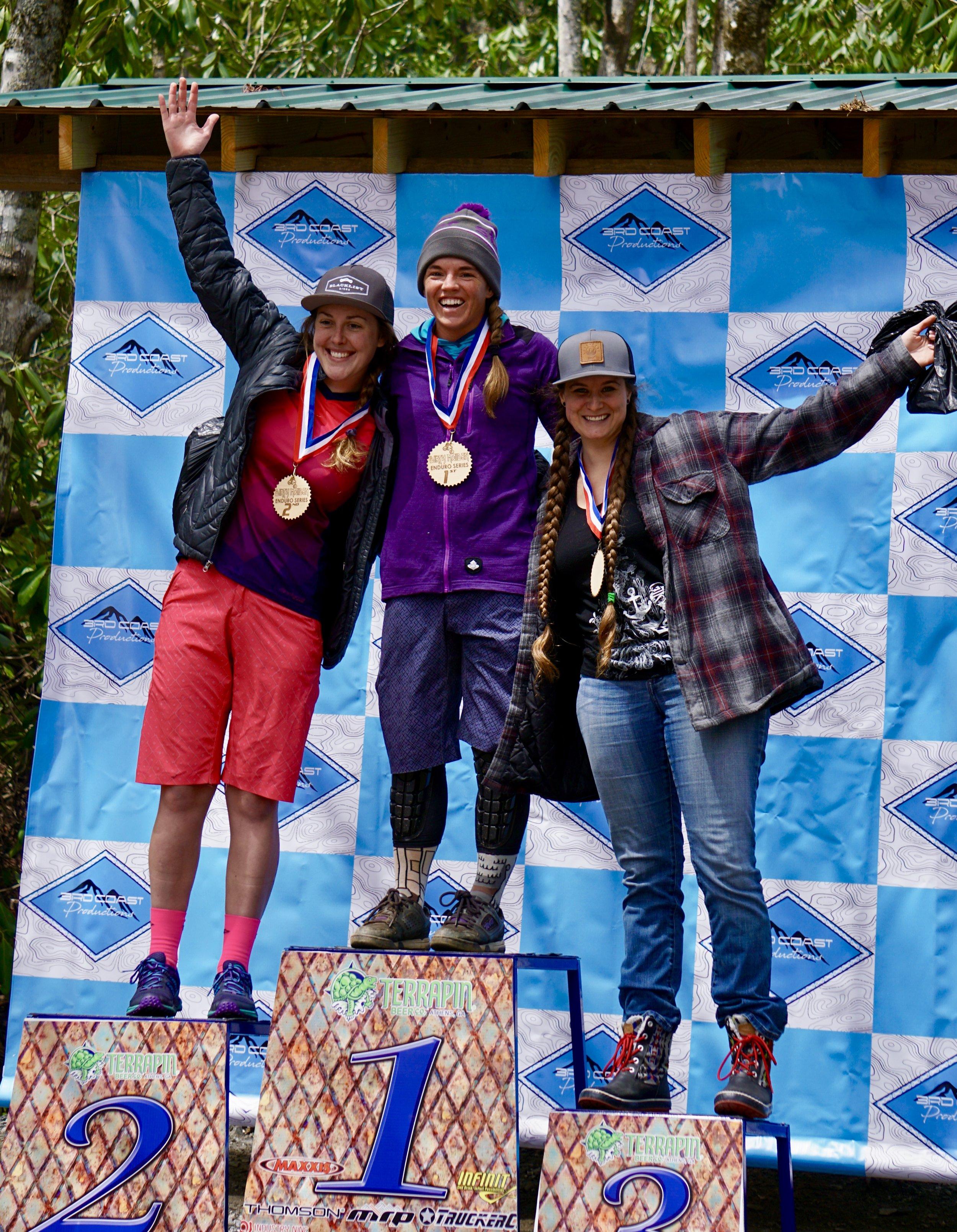 1st place - Fire Mountain Womens' Enduro, NC