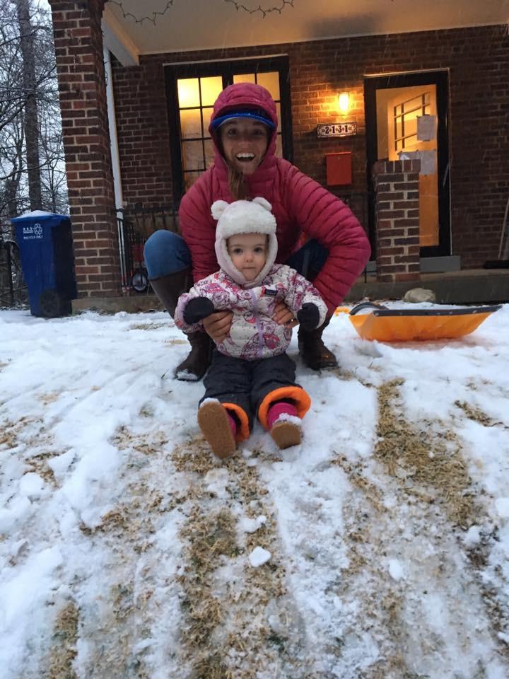 My niece, Mairin, enjoying a rare snow in D.C.