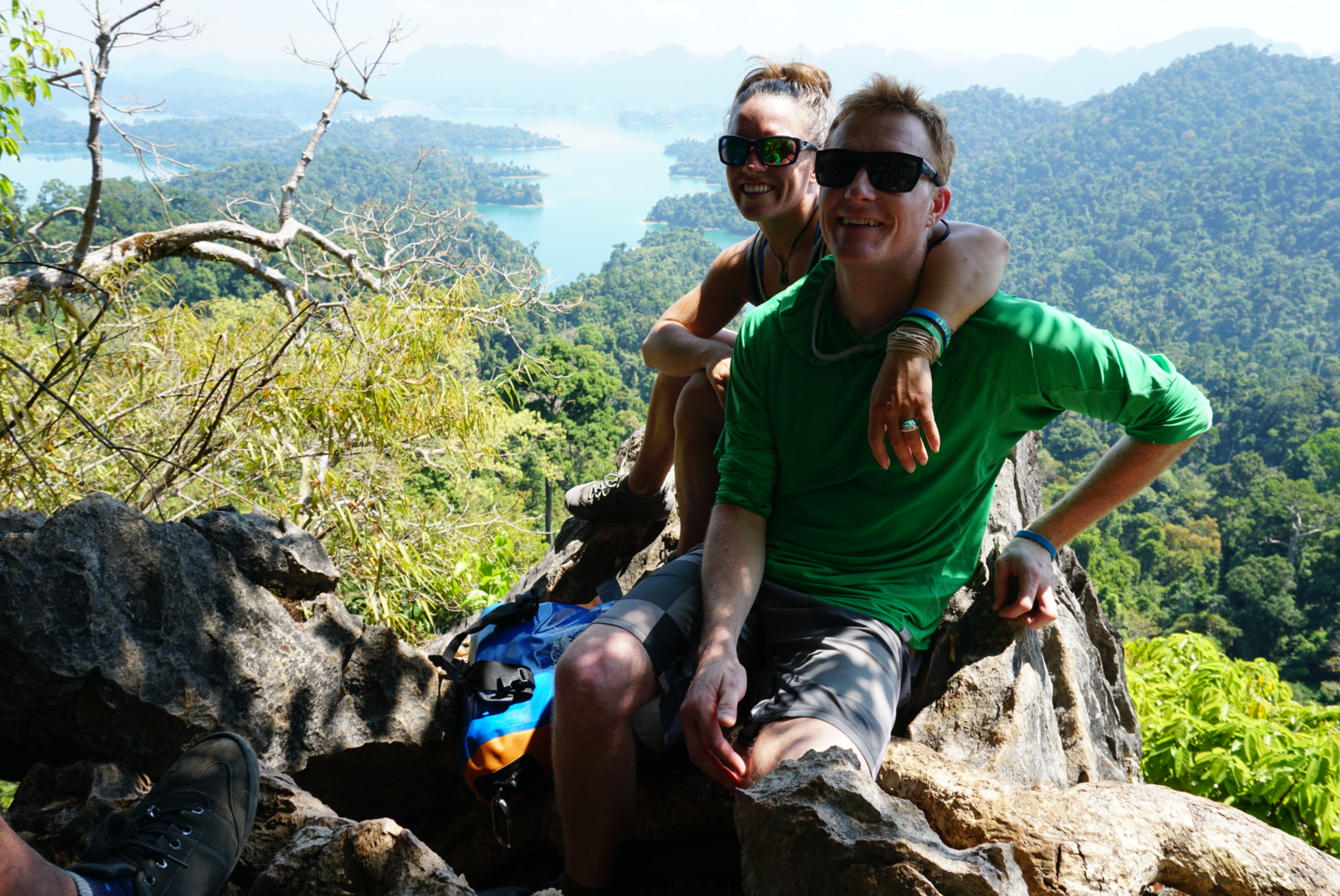 Atop a hike in southern Thailand.