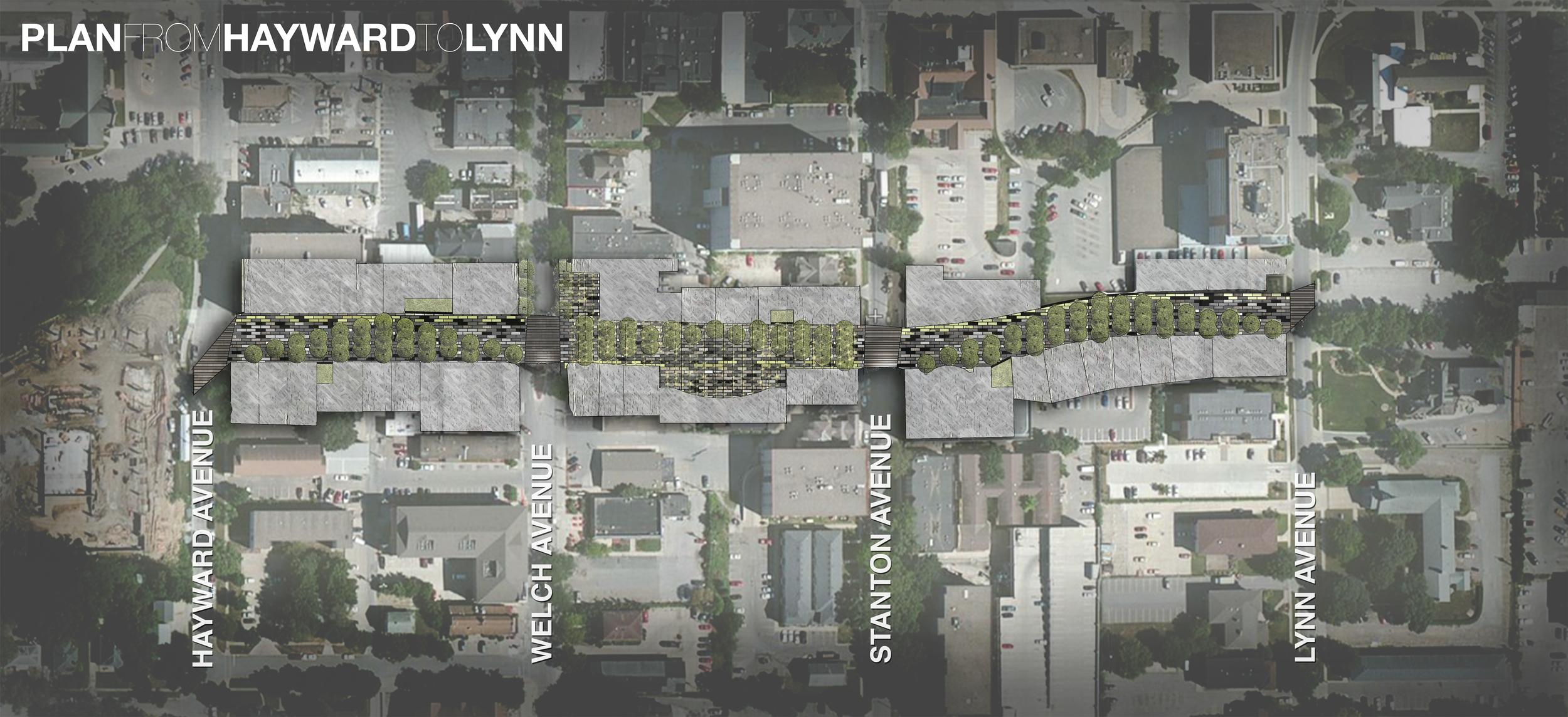 Decorative Plan of the Chamberlain Pedestrian Mall Proposal.