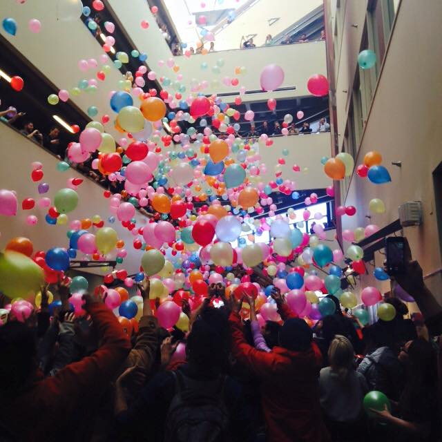 The Balloon Drop.  Courtesy of the Make It Rain Facebook Page.