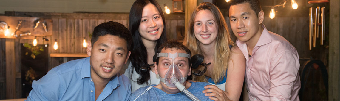Some of the Pison team. From left to right, David Cipoletta, Wenxin Feng, Bobby Forster, Casey Forster and Dexter Ang