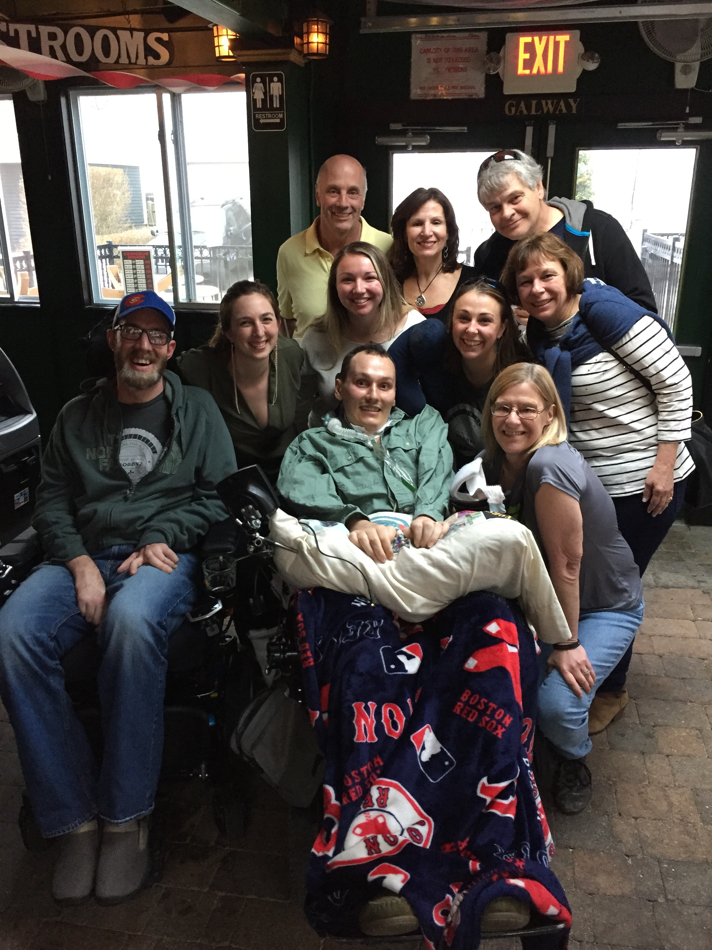 The Forster Family with fellow ALS Warrior, Kyle Connors.