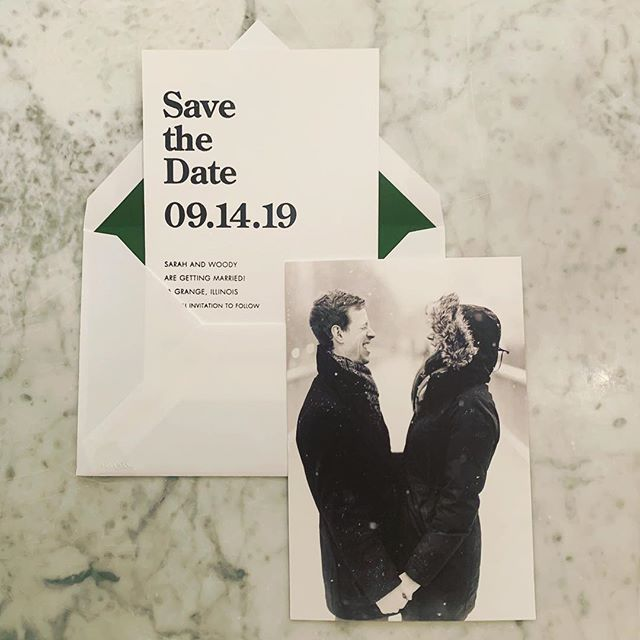 Laughing off the winter blues!  Loving one of the latest save the dates we've created with @craneandco @verawangpapers.  Front of card: Save the Date in foil stamp & back of card: photo by @timtabstudios  Event planner: @eventsxgrace . . . . . #verawanginvitations #craneinvitations #sassnclasshinsdale #savethedate #chicagowedding #savethedatecards #theknotchicago #chicagobride #chicagoweddings #chicagoweddinginvitations