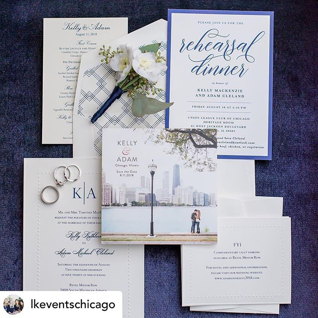 It's all in the details💌  Loved being apart of Kelly & Adam's day! Thank you for sharing with us @lkeventschicago! . . . 📸: @averyhouse  Event planner: @lkeventschicago  Venue: @revelspace  Decor: @revel_decor . . . . . #chicagowedding #savethedate #chicagobride #theknotchicago #hinsdalewedding #sassnclasshinsdale