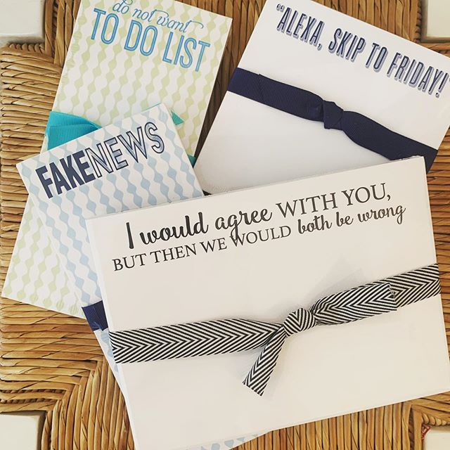 """Alexa, skip to Friday!"" sounds about right! How cute are our note pads?!"