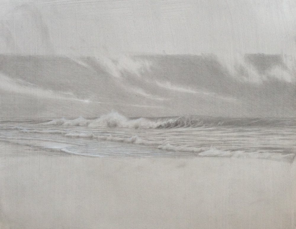 Edward Minoff,  Waves, Sketch