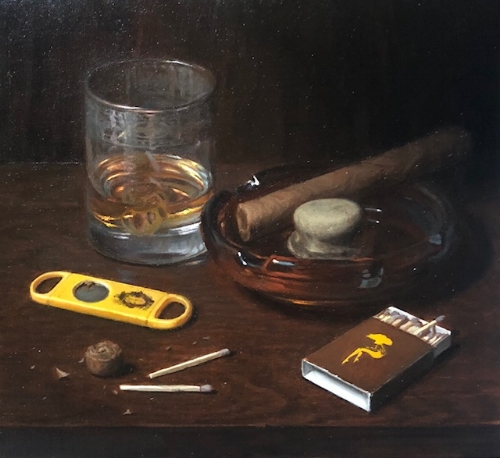 Brian West   Downtime   -  SOLD  7 x 8 in oil on linen