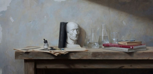 Grant Perry   Alchemy of the Arts  25 x 50 in oil on linen