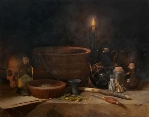 Jon Brogie   Meleficium I  24 x 30 in oil on linen