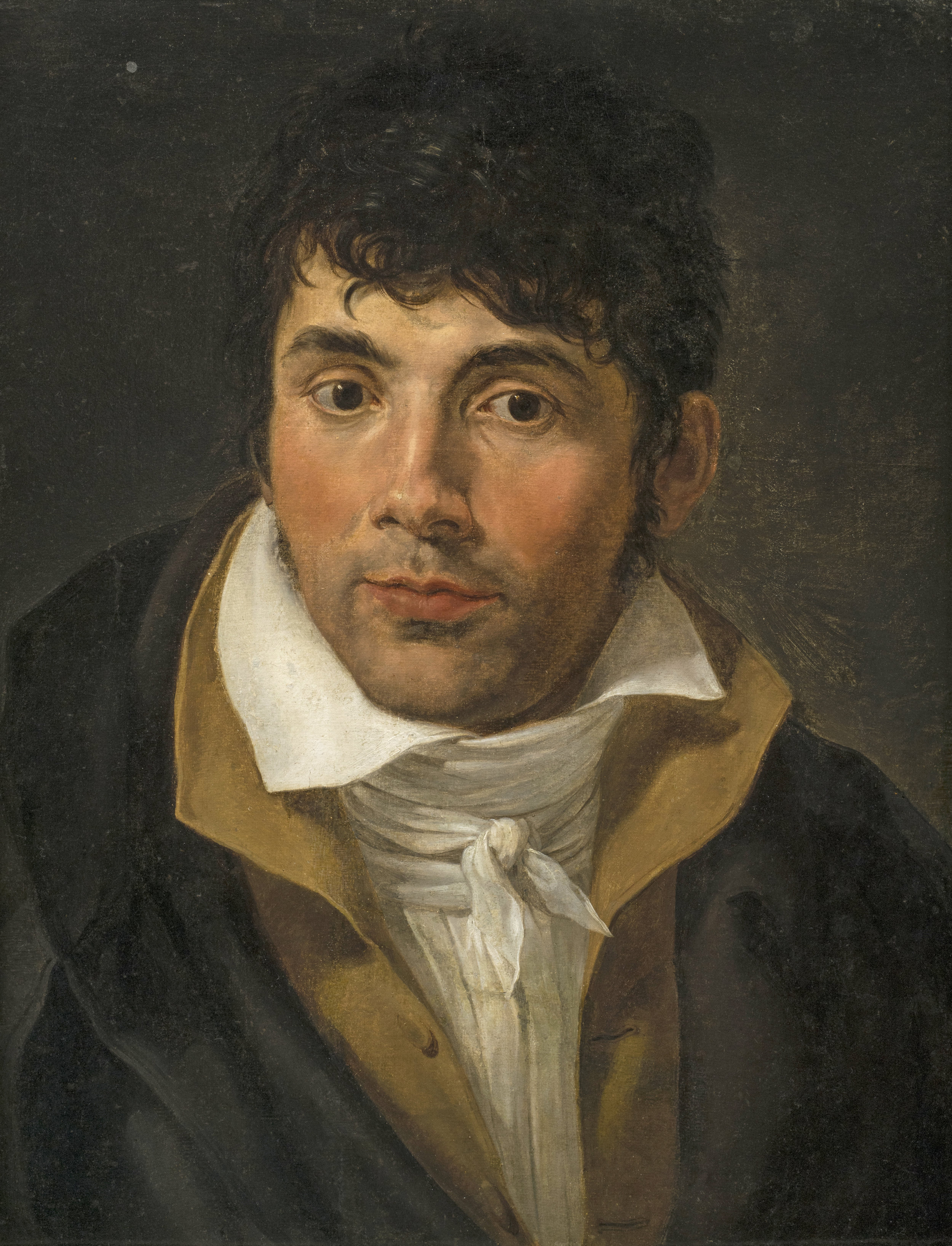 David School  (18th century)  Portrait of a Man  17 ⅛ x 13 ¾ in. oil on canvas
