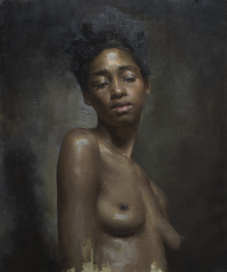 Rachel Li  (b. 1995)  Ruby , 2018 20 x 24 in. oil on linen