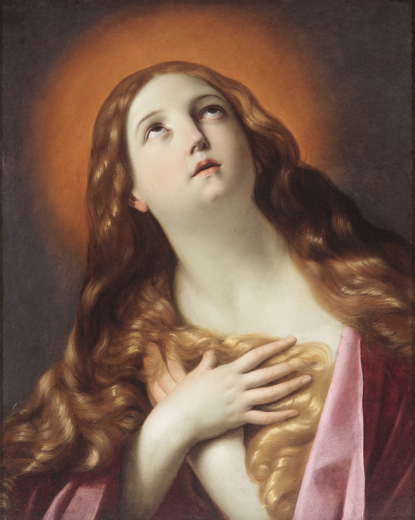 Guido Reni  (b. 1575)  Penitent Magdalene  26 ¾ x 21 ⅙ in. oil on copper