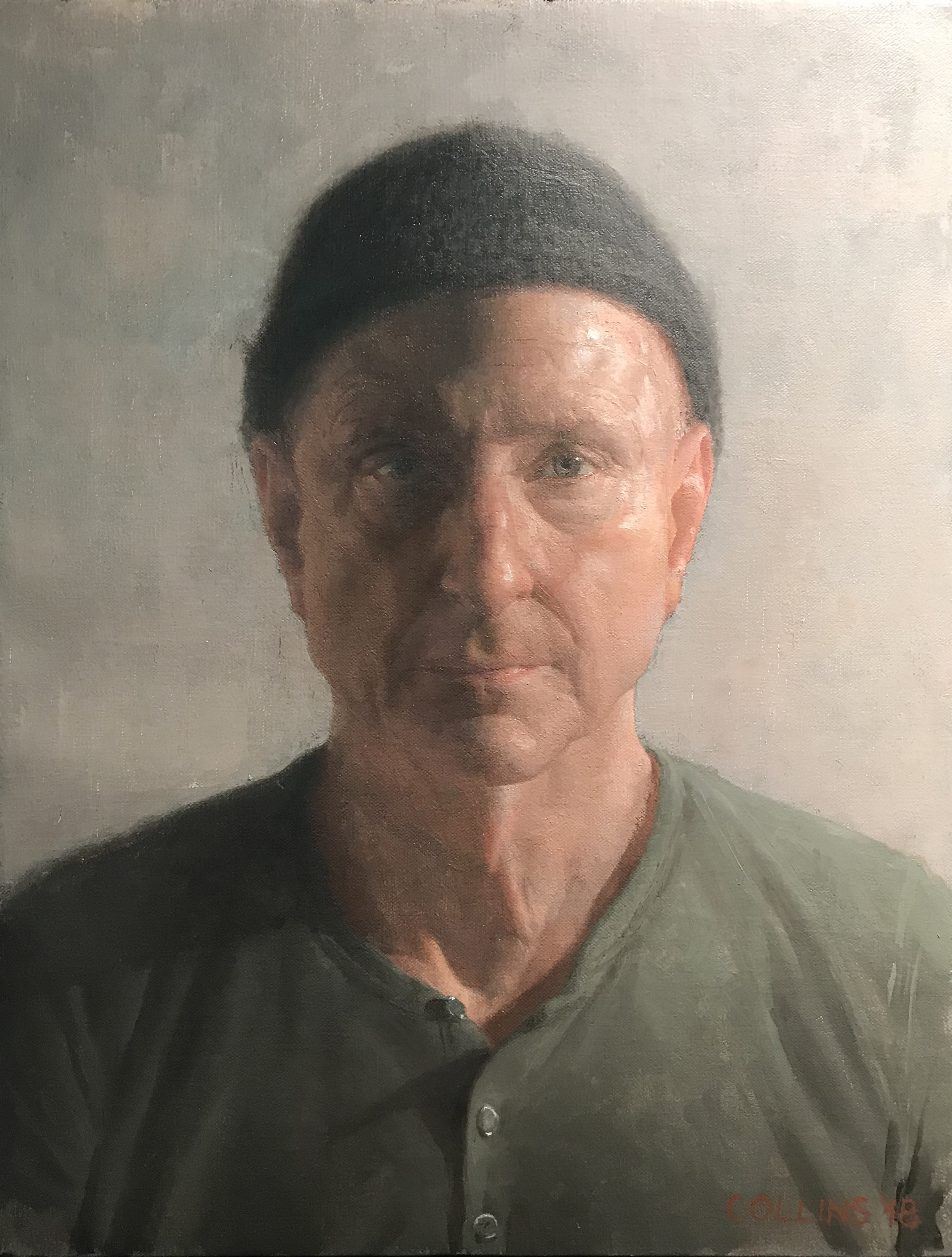 Jacob Collins  (b. 1964)  David , 2018 18 x 14 in. oil on canvas